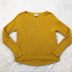 Old Navy Mustard Knit Sweater
